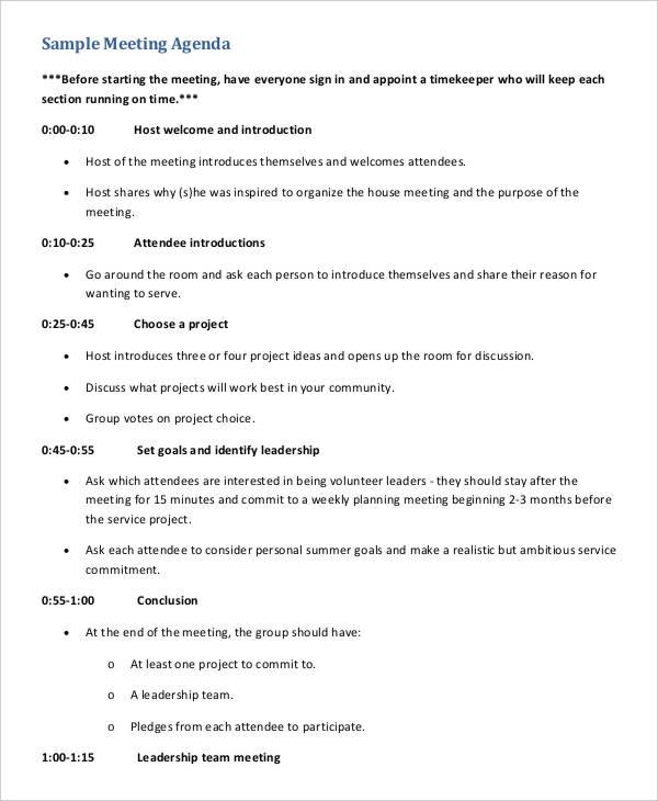 team meeting agenda template2