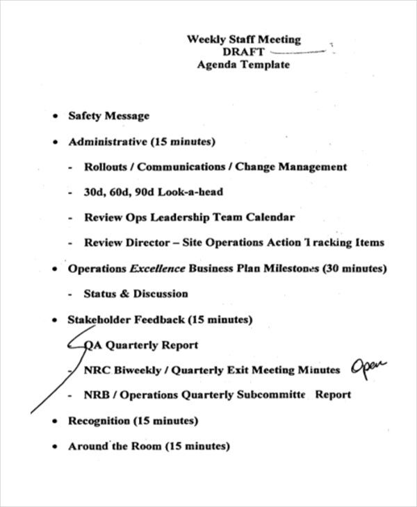 41  meeting agenda templates