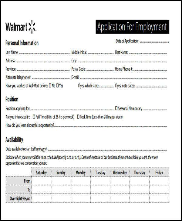 standard job application form template koni polycode co