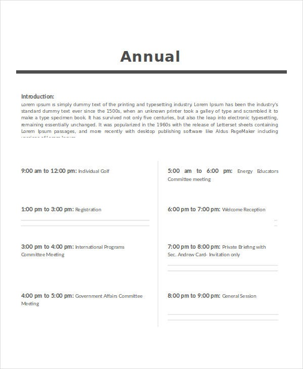 Agenda template 35 free word pdf document download for Annual corporate minutes template free