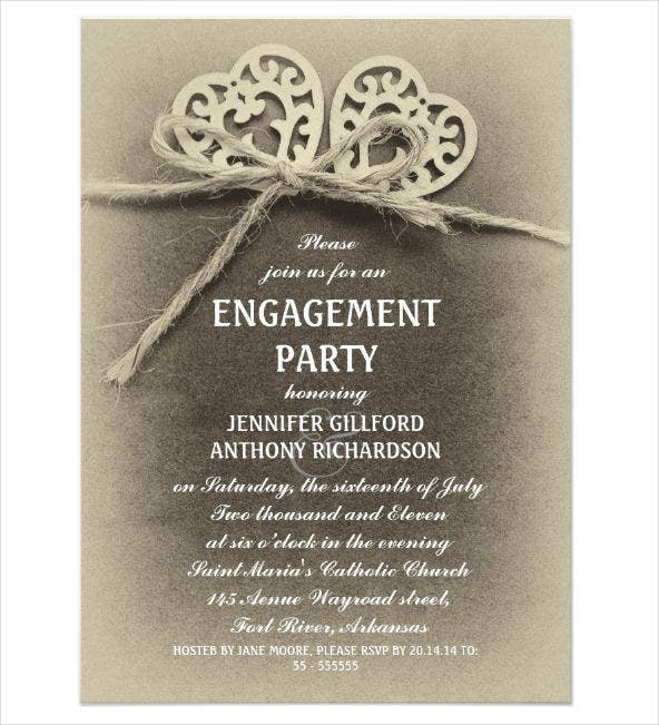 vintage engagement ceremony invitation1