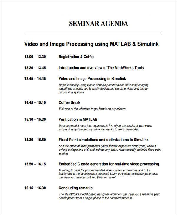 Sample MATLAB Seminar
