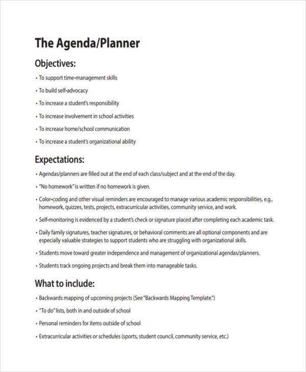 56  agenda templates and examples