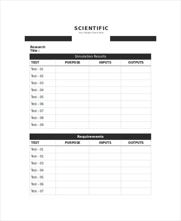 Research Agenda Template