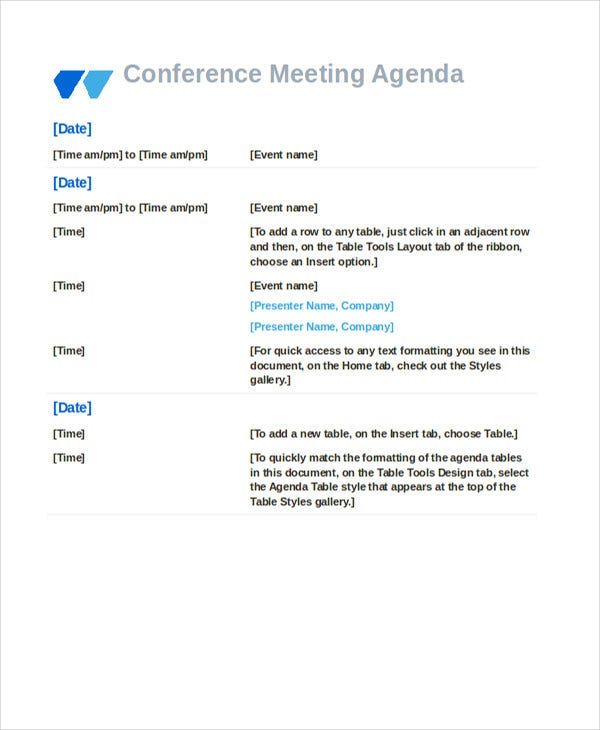 Event Conference Meeting Template