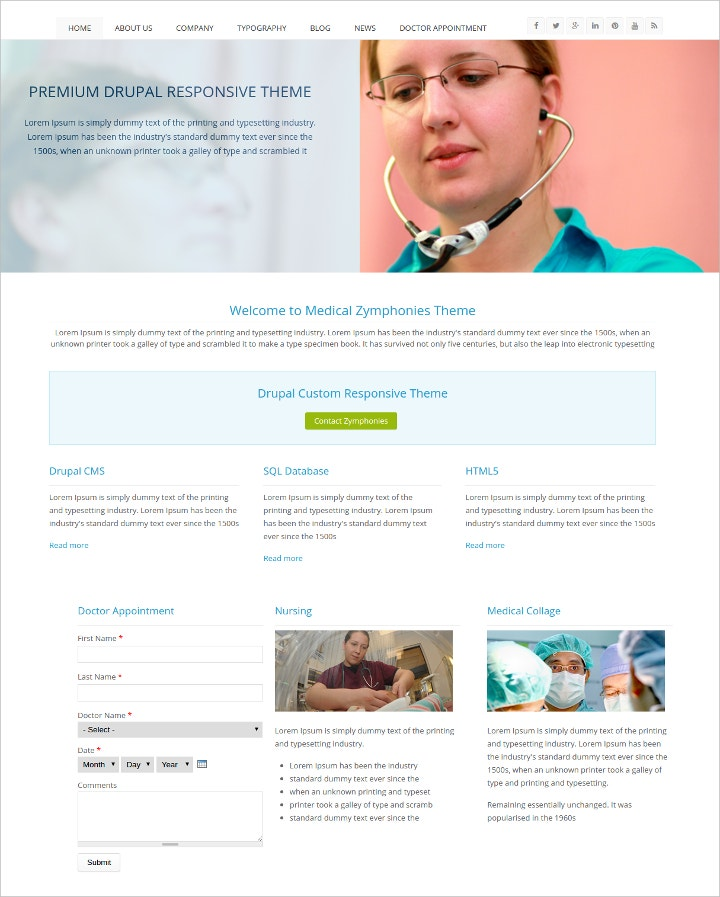 drupal 7 themes gallery