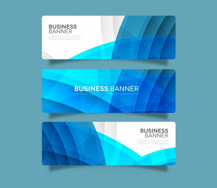 blue business banner template