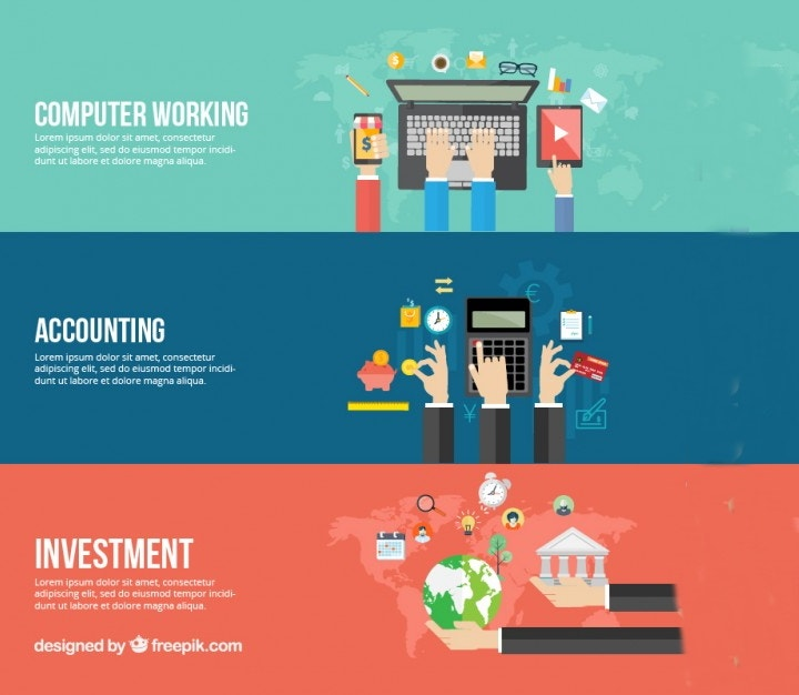 accounting business banner template