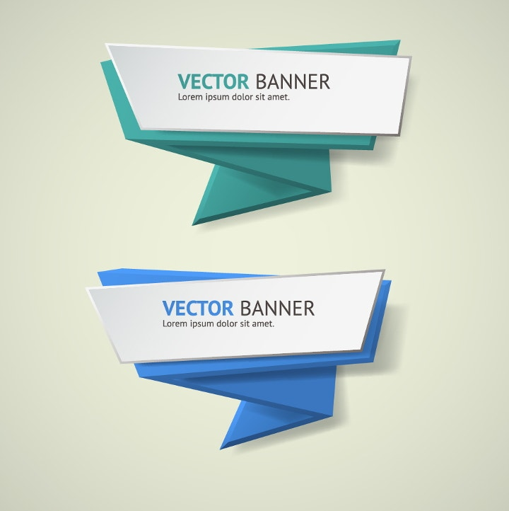 oragami business banner design