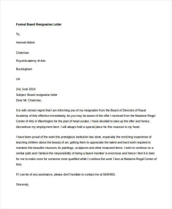 Resignation Letter With Regret Resignation Letter Samples Resume