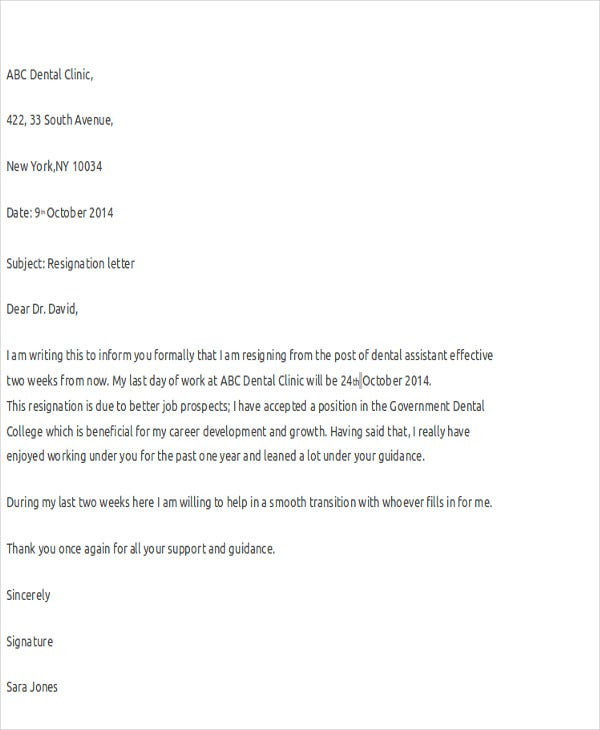 Nurse Resignation Letters   Free Word Pdf Format Download