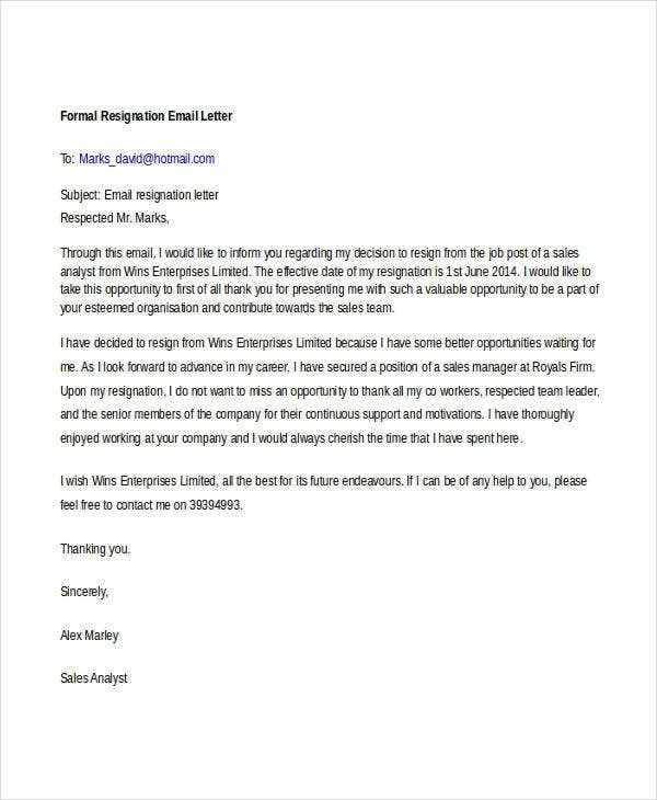 14 formal resignation letters free sample example format download free premium templates
