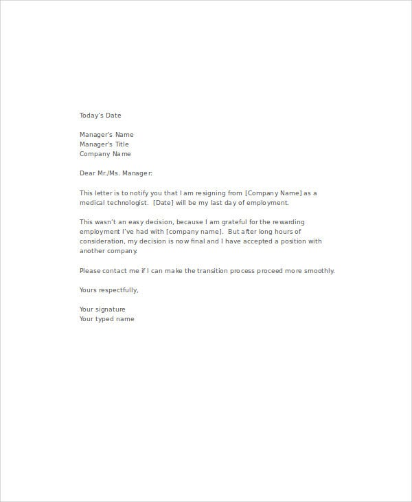 medical resignation letters template 8 free word pdf format download free premium templates