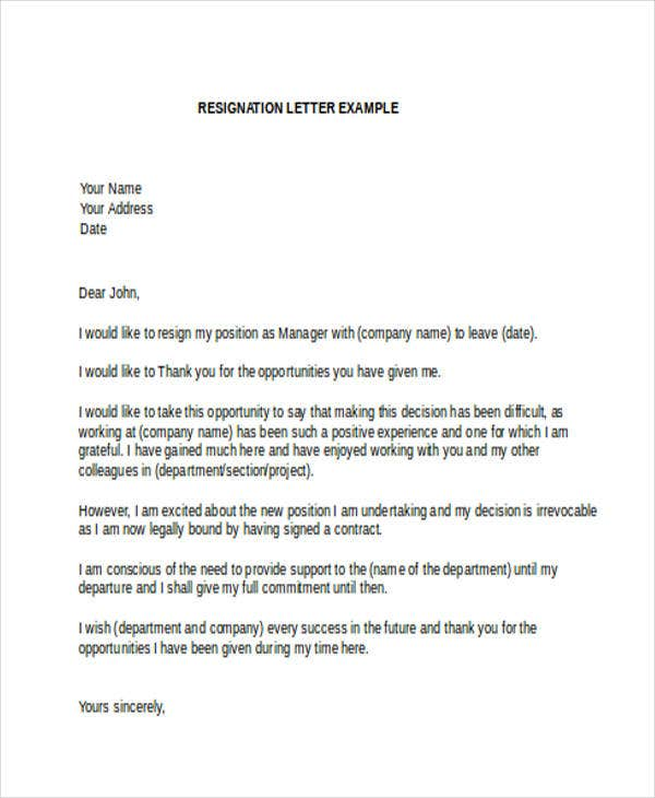 Captivating Resignation Thank You Letter To Manager