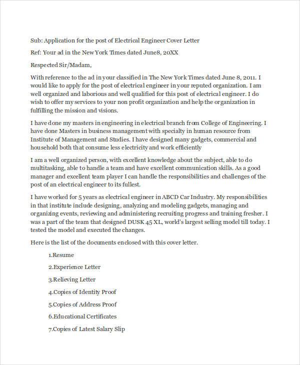 Job Application Letter Format Freshers