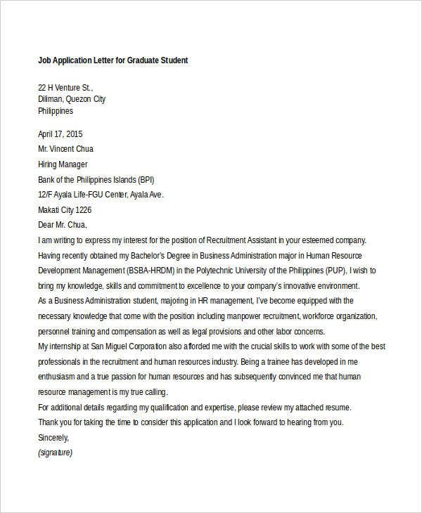 General Application Cover Letter Template PDF Format Template net