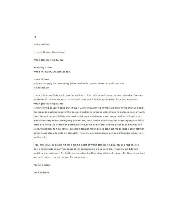 Job application letter in hospital sample cover letter for doctors spiritdancerdesigns Images