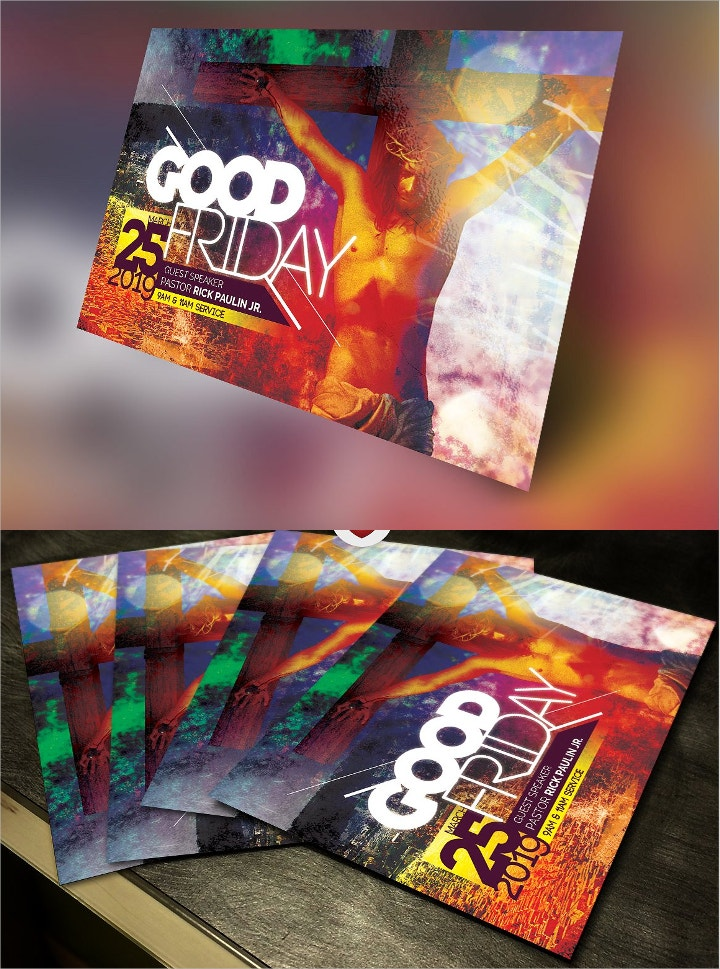 good friday church flyer