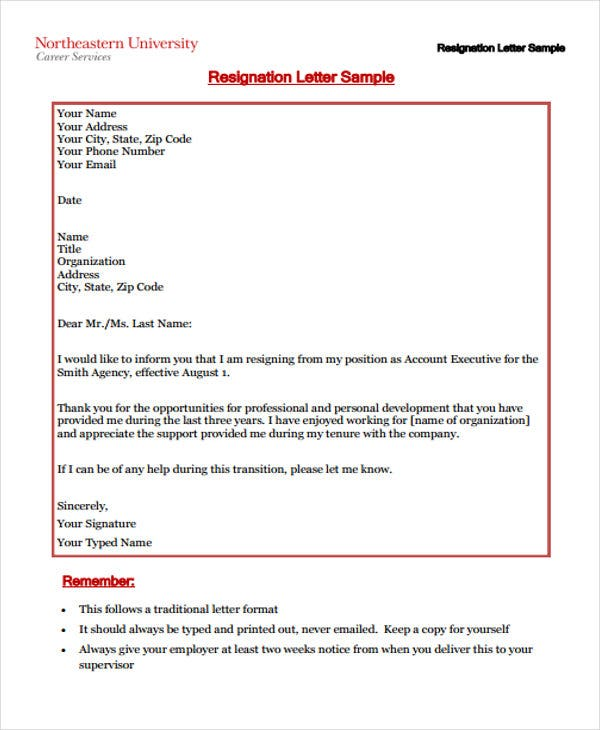 Sample corporate resignation letters 10 free sample example corporate executive resignation letter spiritdancerdesigns Image collections