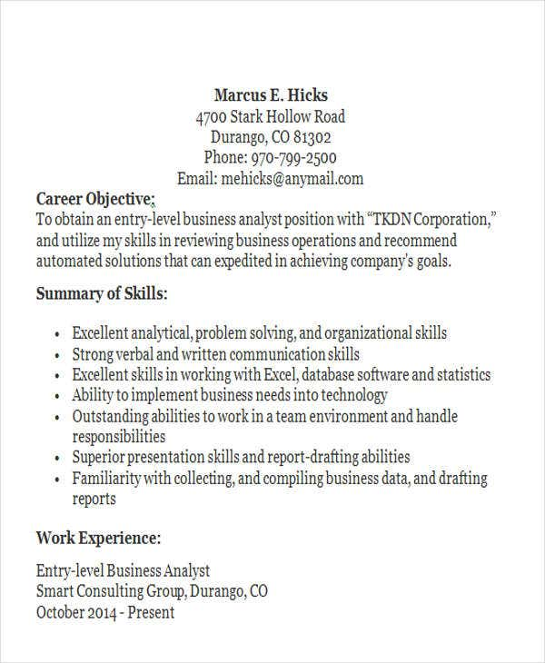 entry level business analyst resume2