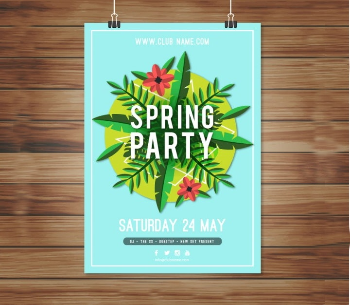 floral-spring-party-poster