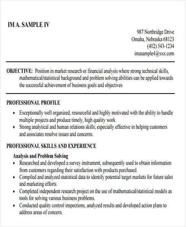professional business resume format1