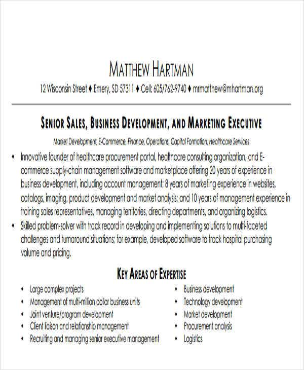 business development cover letter resume