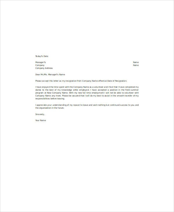 Non Profit Board Resignation Letter Sample from images.template.net