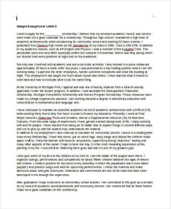 Cover letter michigan university