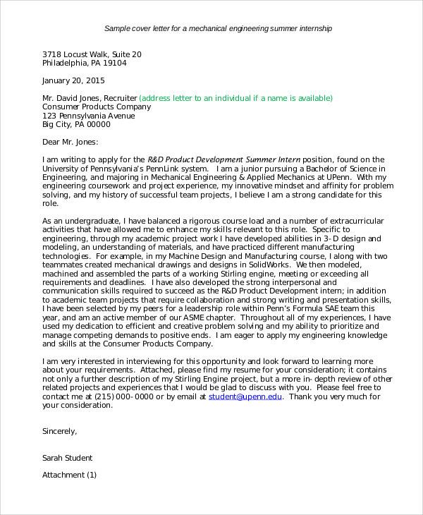 Summer Job Cover Letter Examples - dozc.tk