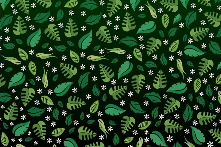 spring leaves pattern