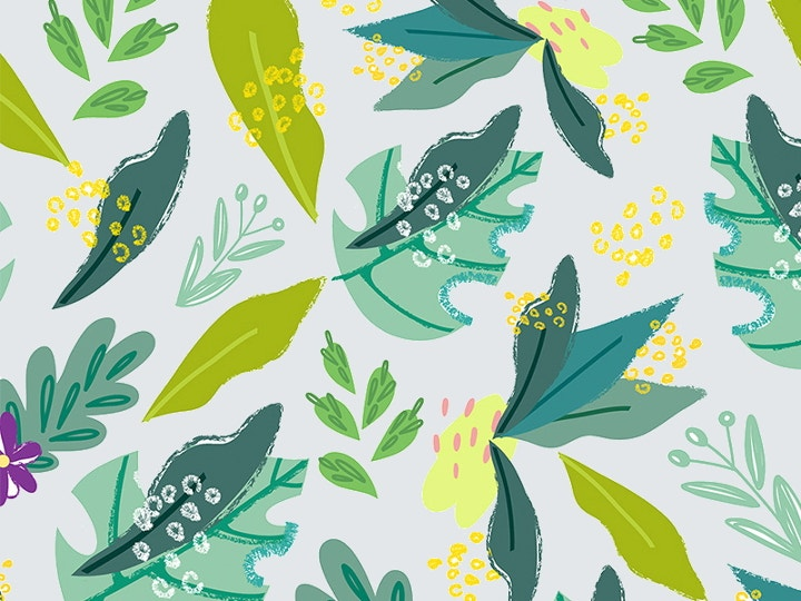 spring tropical pattern design