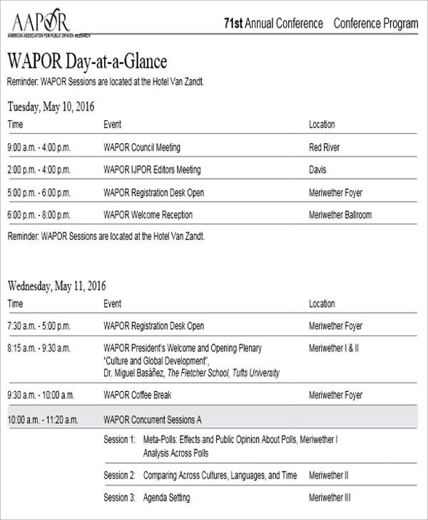 conference agenda design2