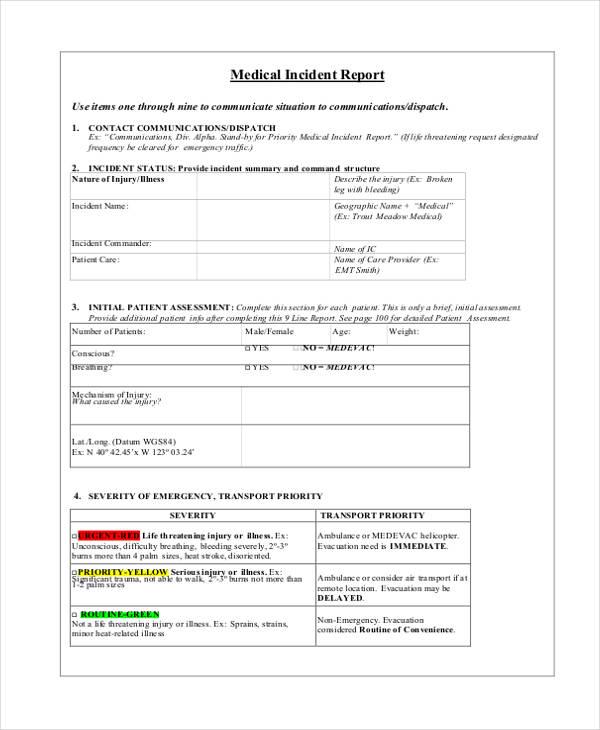 medical incident report