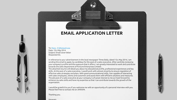 email application letters