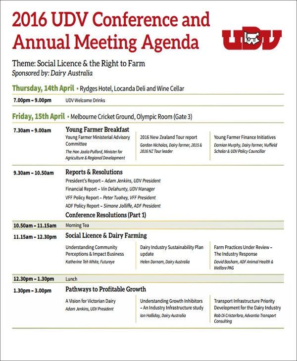 UDV Conference and Annual Meeting in PDF