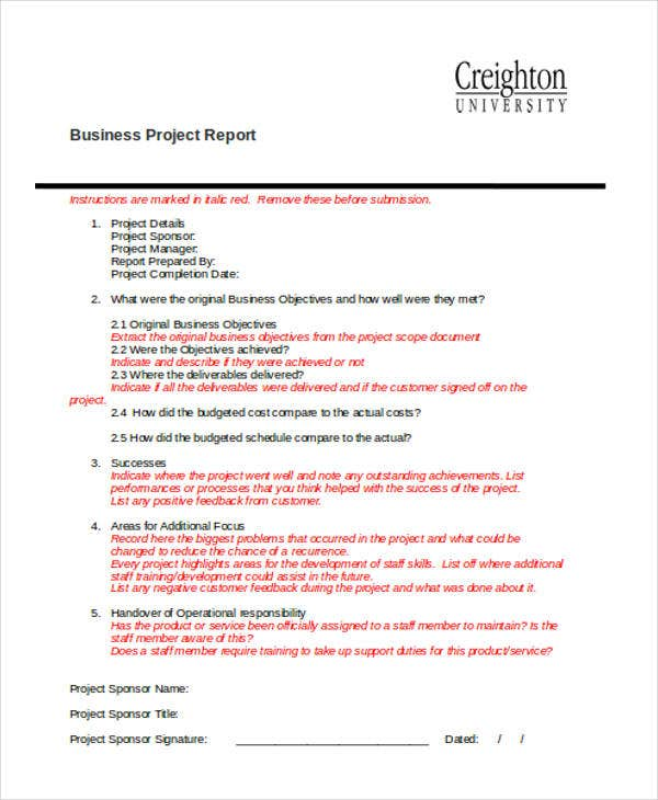 business project report1