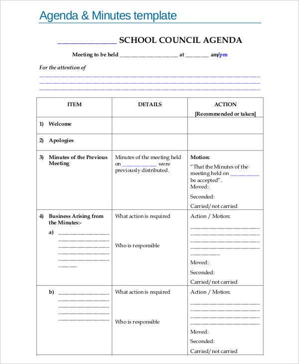 Captivating Education.vic.gov. Details. File Format And Minutes Agenda Template