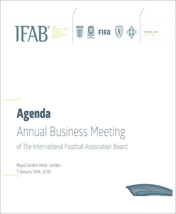 Annual Business Meeting Example