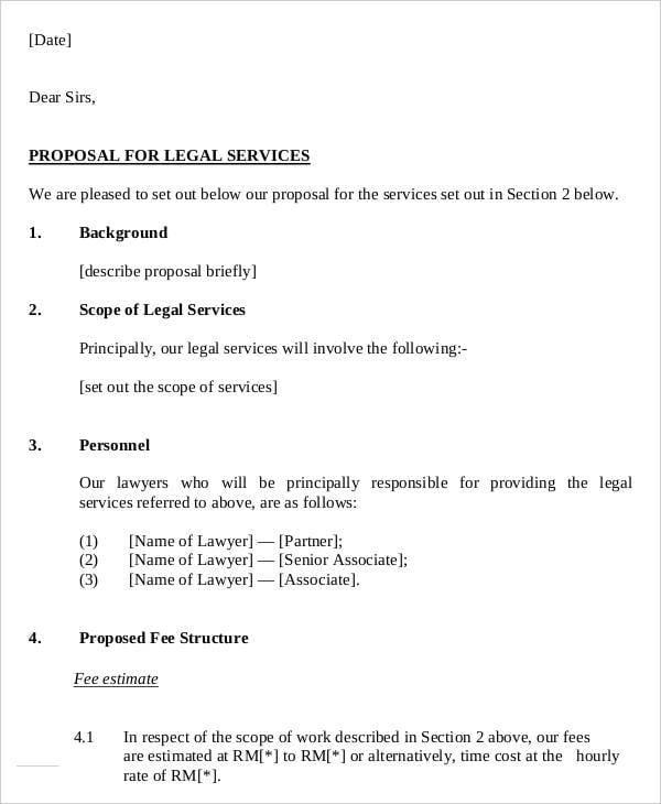 Legal Service Offer Letter