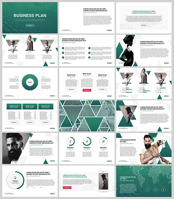 Business Plan Keynote Templates  Free  Premium Templates
