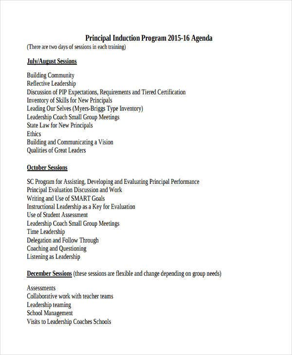 sample program agenda templates 11 free sample example format