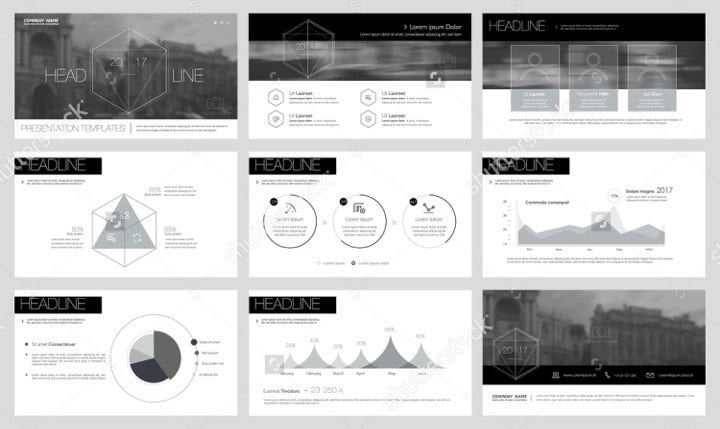 Black and White Keynote Slide Template