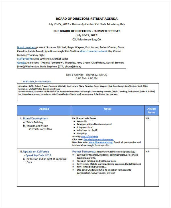 board retreat agenda template1