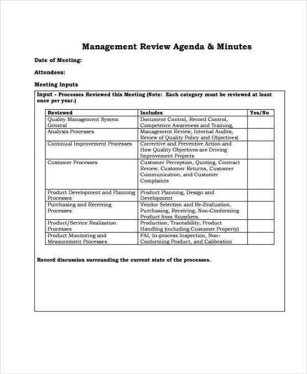 Review Agenda Templates   Free Word Pdf Doc Format Download