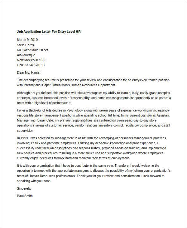 Sample Letter To Human Resources from images.template.net