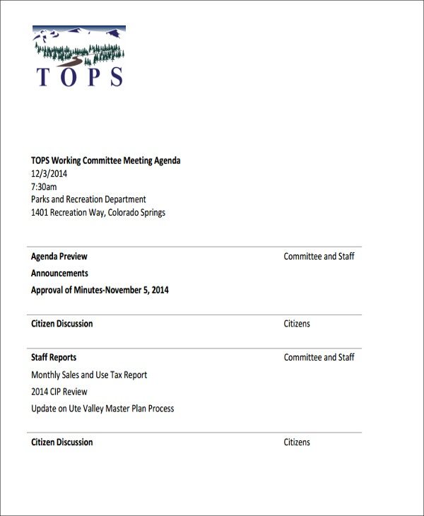 TOPS Monthly Sales Meeting