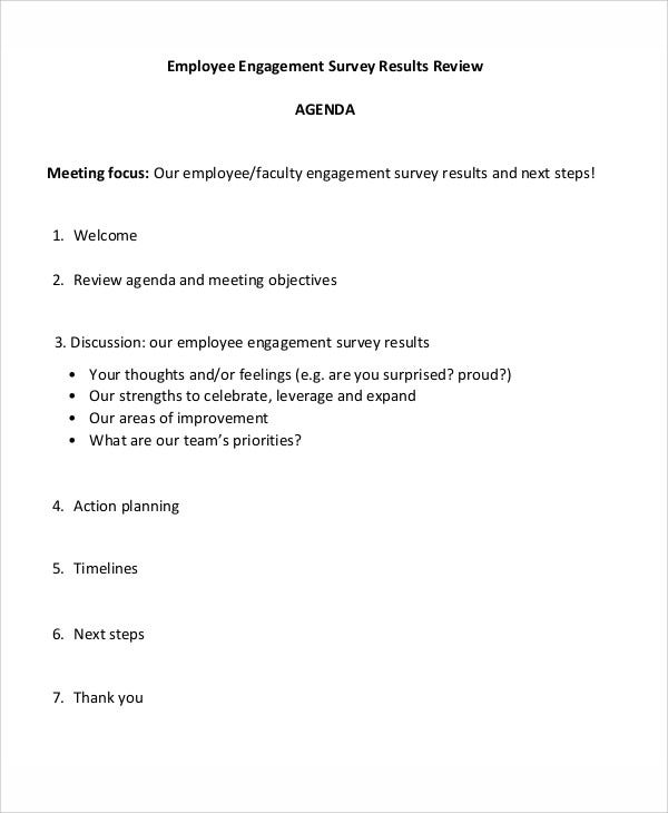 employee review agenda