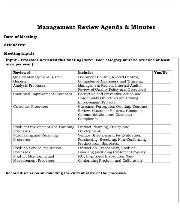 management review agenda1
