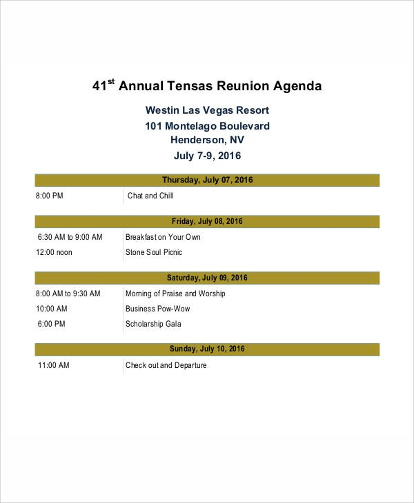 sample reunion agenda template1